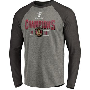 info for 3891f 1155c Atlanta United FC Men's 2018 MLS Cup Champions Throwback Long Sleeve Raglan  T-shirt