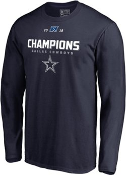 Dallas Cowboys Men's 2018 NFC East Division Champions Comeback Play Roster Long Sleeve T-shirt