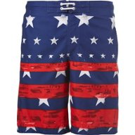O'Rageous Men's Americana Faded Stars and Stripes Board Shorts