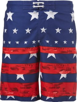 Men's Americana Faded Stars and Stripes Board Shorts