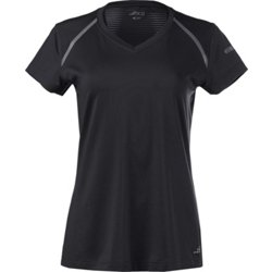 Women's Running Mesh Pieced Short Sleeve T-shirt