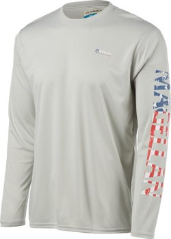 Men's Fishing Casting Crew Long Sleeve Shirt
