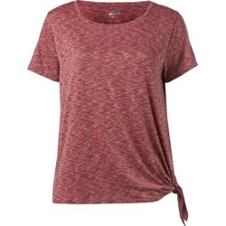 Women's Plus Size Athletic Side Tie Muscle T-shirt