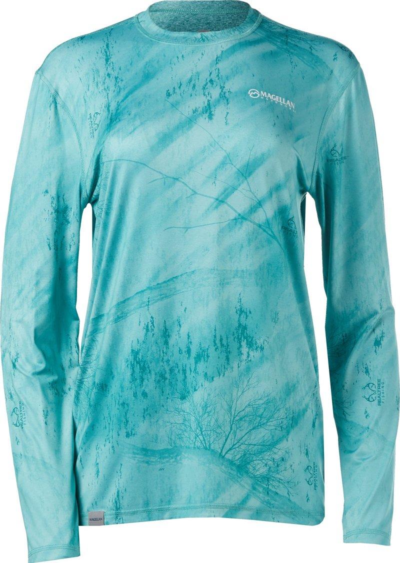 Magellan Outdoors Women's Realtree Fishing Reversible Long Sleeve Top (Light Turquoise, Size X Small) - Women's Outdoor, Women's Fishing Tops at Academy Sports thumbnail