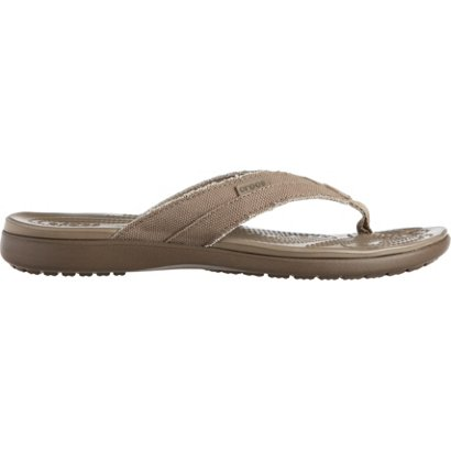 a95b4513c67a ... Crocs Men s Santa Cruz Canvas Flip Flops. Men s Sandals   Flip Flops.  Hover Click to enlarge