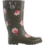 Austin Trading Co. Women's Olive Floral Rubber Boots