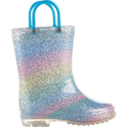 Toddlers' Glitter PVC Boots