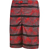 O'Rageous Boys' Red Palm Boardshorts
