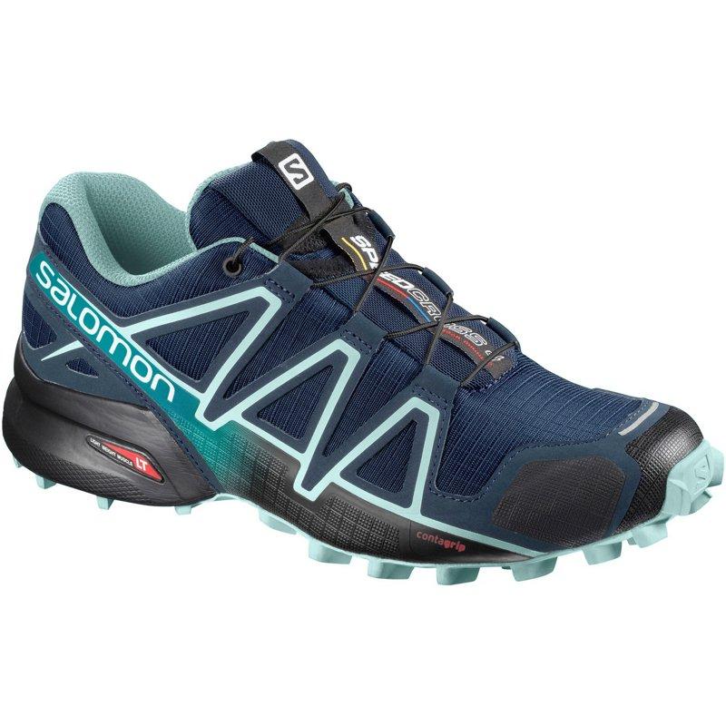 Women's Salomon Speedcross 4 Trail Running Shoe, Size: 9 M, Poseidon
