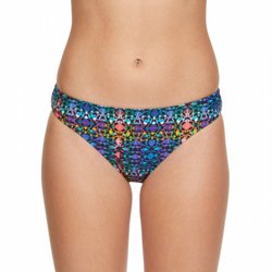 Juniors' Tribal Tie Dye Hipster Swim Bottoms