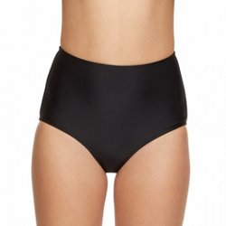 Juniors' Solid High-Waisted Swim Bottoms