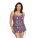 6ee5ba572b Women's Plus Size Aztec Step Swim Dress
