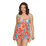 3bdd7481edb Women s Plus Size Bold Bloom Swim Dress