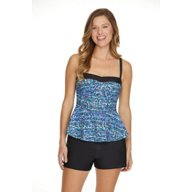 Sweet Escape Women's Color Sprinkle Bandeaukini
