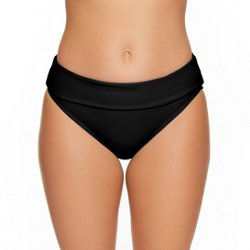 Women's Solids Hi-Waist Swim Bottoms