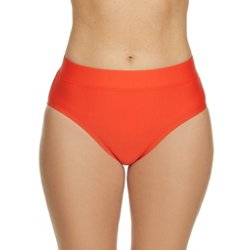 Women's Solids High Waist Swim Bottoms