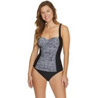 Sweet Escape Women's Tiles and Tides Molded Tankini