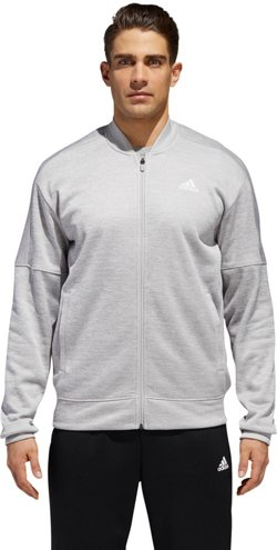 adidas Men's Team Issue Fleece Bomber Sweatshirt