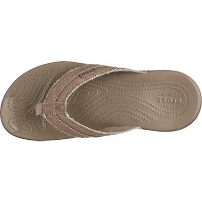 31c7d70ff9d2 Crocs Men s Santa Cruz Canvas Flip Flops