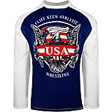 Cliff Keen Boys' MXS LOOSE Historic Eagle Long Sleeve Shirt