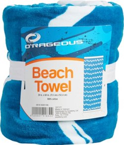 O'Rageous 28 in x 60 in Zigzag Printed Beach Towel