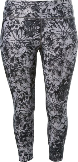 Women's Printed Plus Size 7/8 Leggings