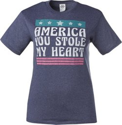 Women's America You Stole My Heart Graphic T-shirt