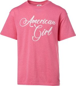 Girls' American Flag Graphic T-shirt