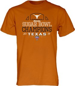 Blue 84 Men's University of Texas 2018 Sugar Bowl Champions Hard Hit T-shirt
