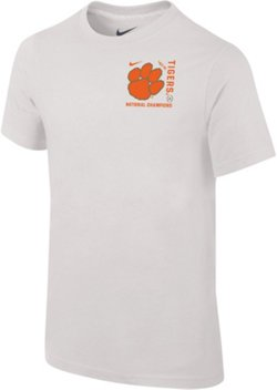 Youth Clemson University 2018 National Champions Team Logo T-shirt