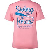 Simply Southern Women's Swing Fences Baseball Graphic T-shirt