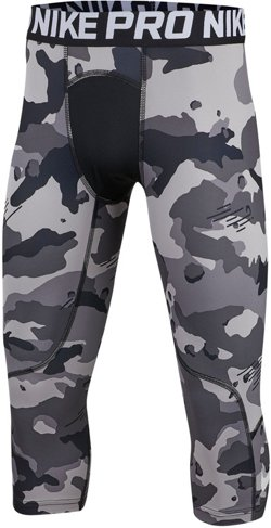 Boys' 3/4 Length Camo Tights