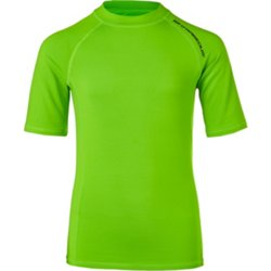 Boys' Solid Logo Rash Guard