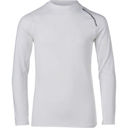 Boys' Solid Logo Raglan Long Sleeve Rash Guard