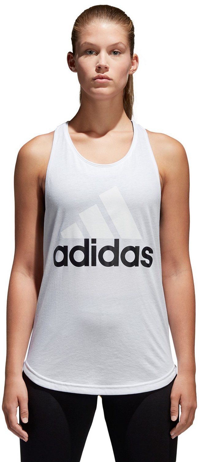897bcd44 Display product reviews for adidas Women's Essentials Linear Logo Loose Tank  Top