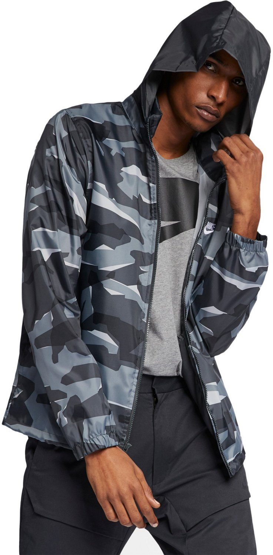 ae44cb113 Nike Men's Sportswear Hooded Windbreaker Jacket | Academy