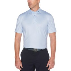 Men's Printed Gingham Golf Polo Shirt