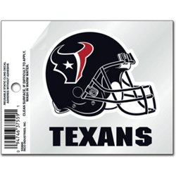 Houston Texans 3.5 in x 4.5 in Static Cling
