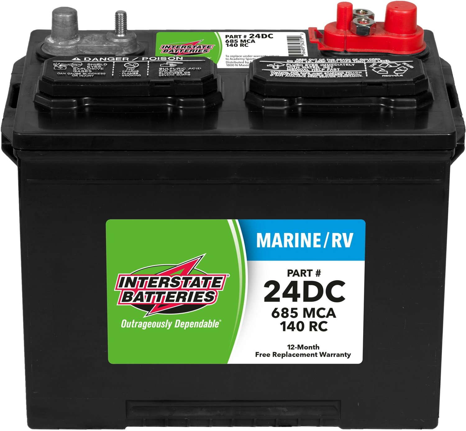 Interstate Batteries Deep Cycle 24dc 685 Marine Cranking Amp Battery