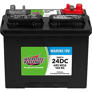 Interstate Deep Cycle Marine Battery >> Interstate Batteries Deep Cycle 24dc 685 Marine Cranking Amp Battery
