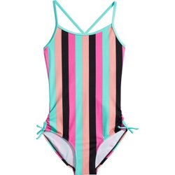 Girls' Zanzibar Mix 1-Piece Swimsuit