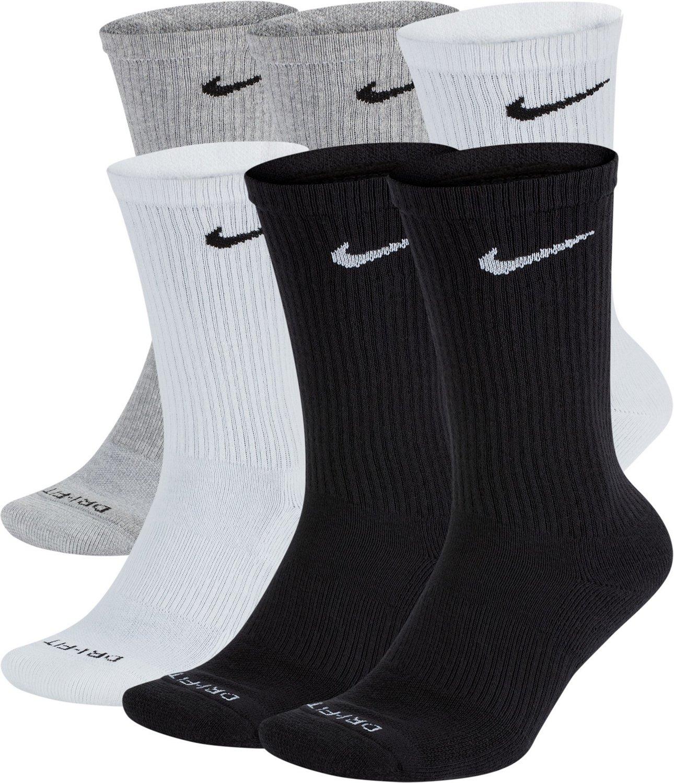 Nike Men s Everyday Plus Cushion Training Crew Socks 6 Pack  30a458a34659c