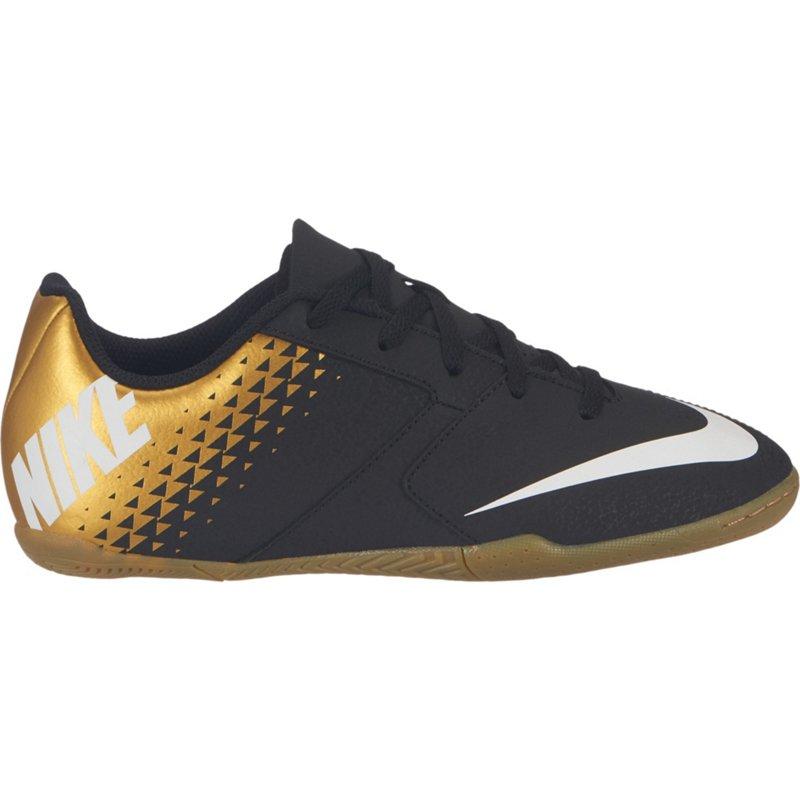 e0c03169d Nike Boys  BombaX Indoor-Competition Soccer Shoes (Black White Mtlc Vivid