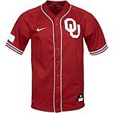 690128d2d41 Nike Men s University of Oklahoma Replica Vapor Elite Full Button Baseball  Jersey