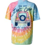 Simply Southern Women's Mud Tie Dye Graphic T-shirt