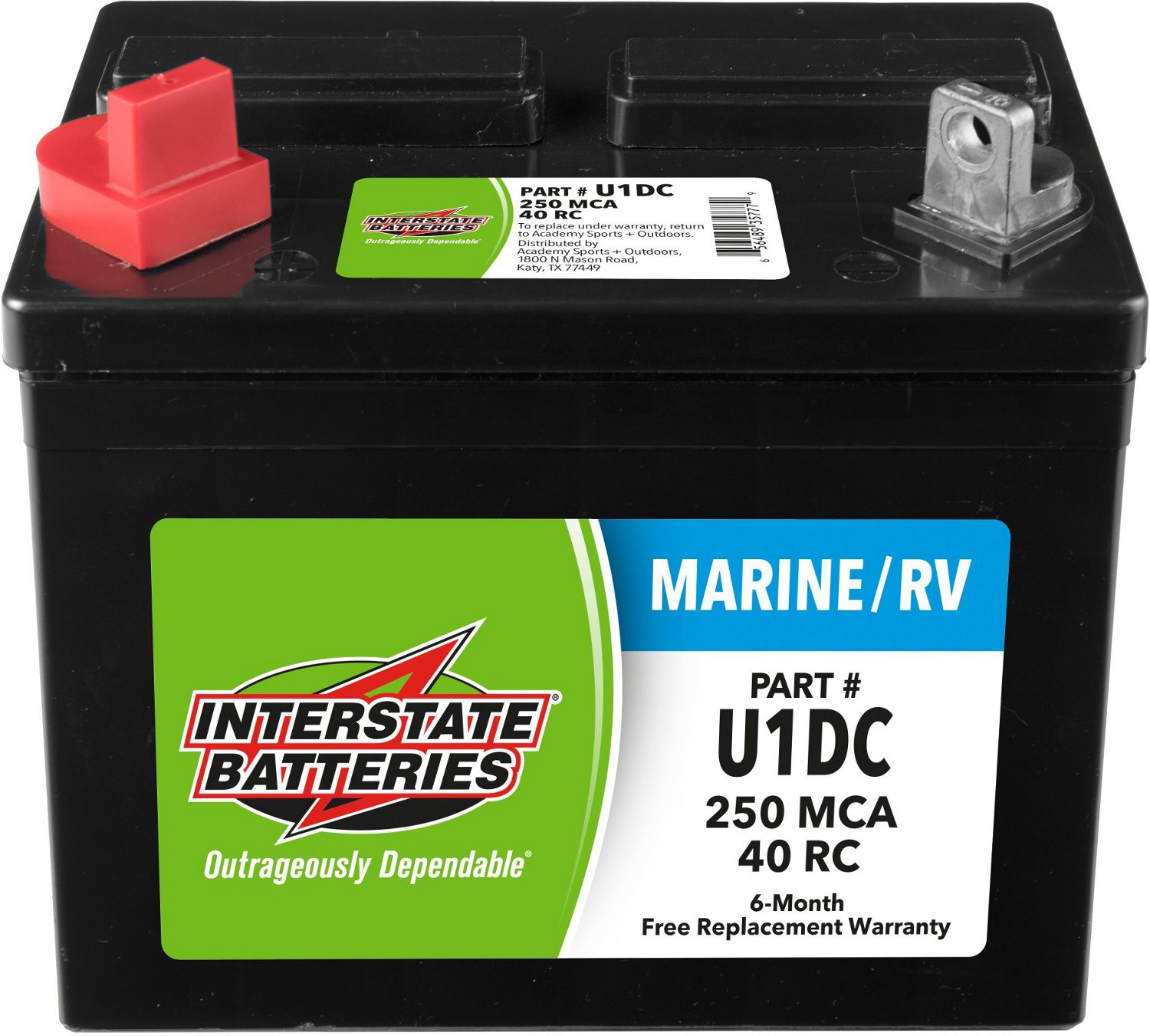 Interstate Deep Cycle Marine Battery >> Interstate Batteries Group U1 250 Marine Cranking Amp Deep Cycle Battery