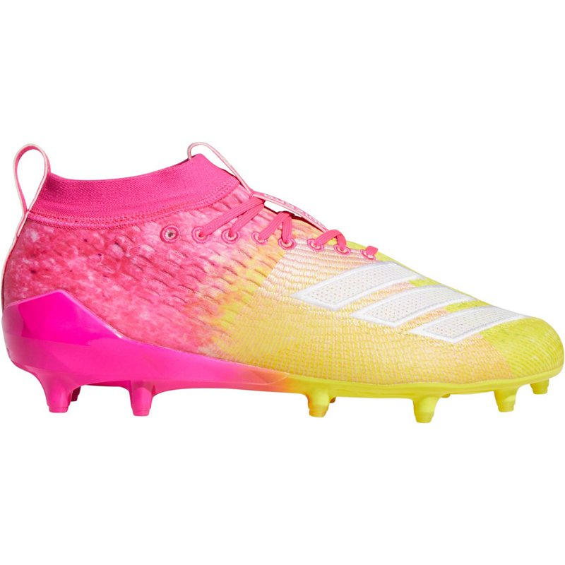 696ff735033 adidas Men s Adizero 8.0 Football Cleats Shock Pink Cloud White Yellow