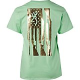 1f2f7590 Women's Foil Rifle Flag Short Sleeve T-shirt. Quick View. Browning