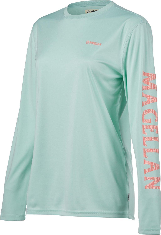 a2e63f5577b3 Display product reviews for Magellan Outdoors Women's Caddo Lake Logo Crew Long  Sleeve T-shirt