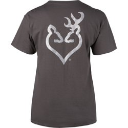 Women's Glitter Buckheart Short Sleeve T-shirt